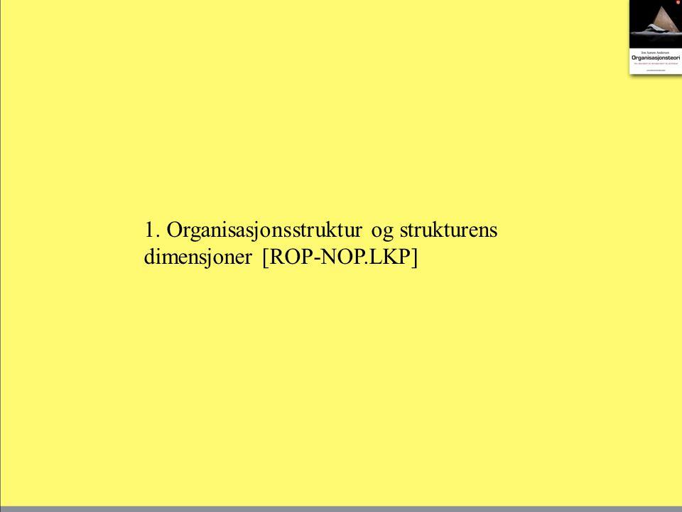 1. Organisasjonsstruktur og strukturens dimensjoner [ROP-NOP.LKP]